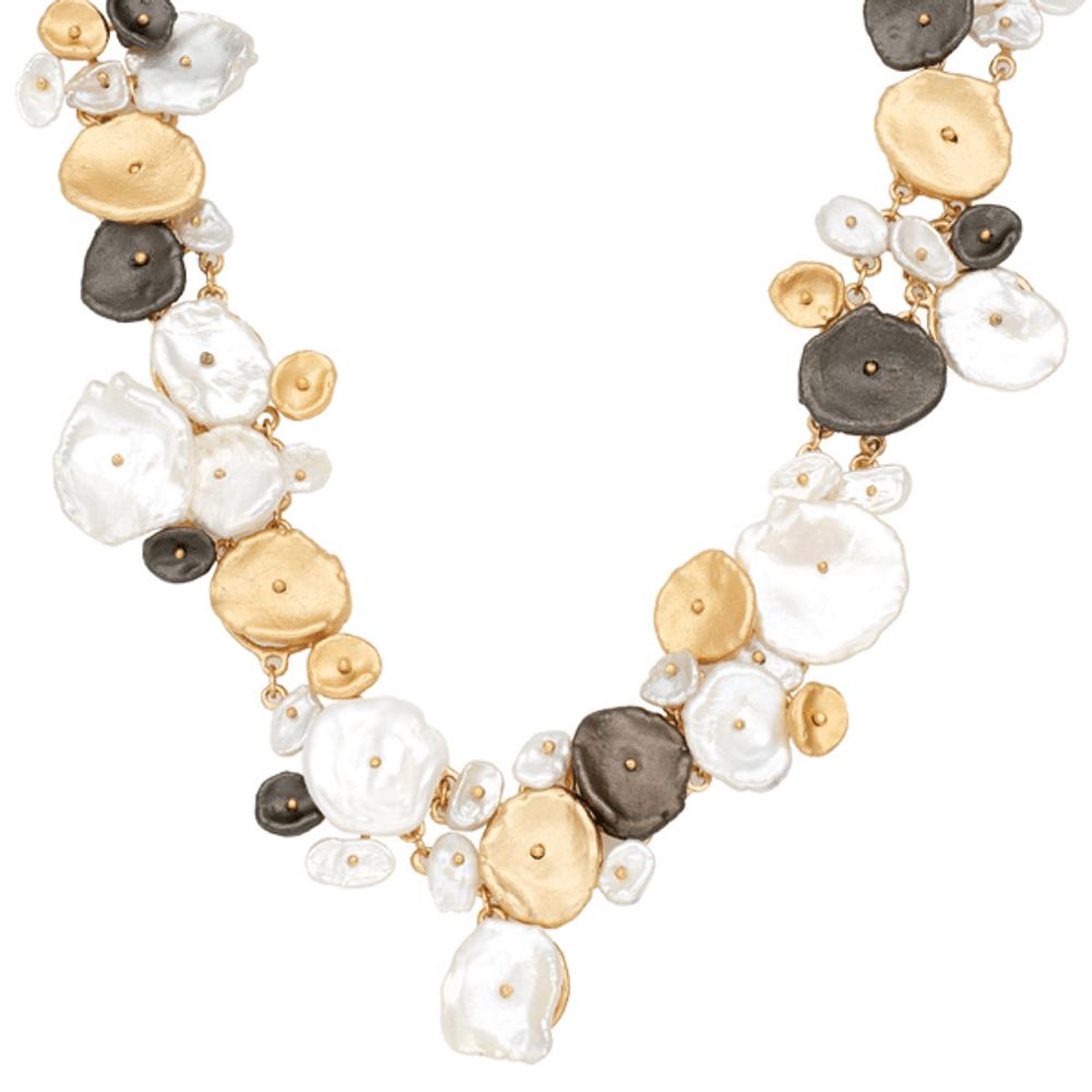 River Pebble Contour Necklace | Michael Michaud Jewelry | SS9217BZMULWP