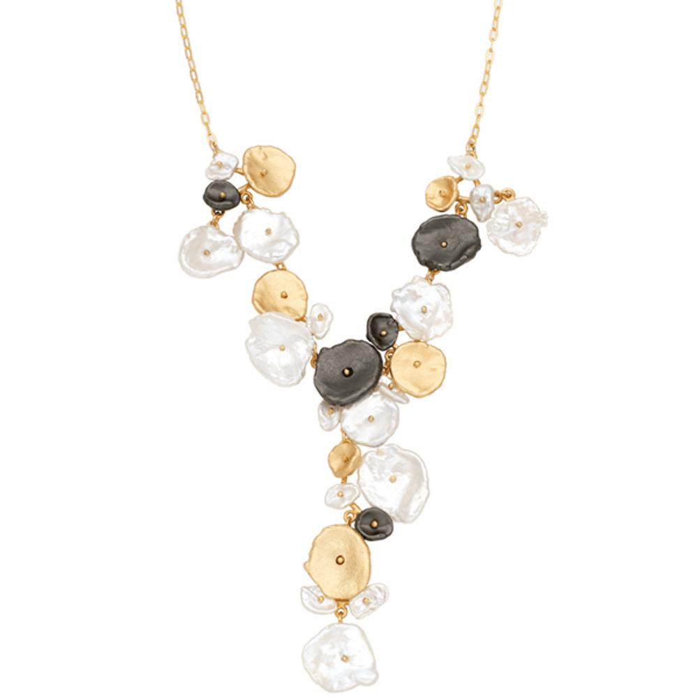 River Pebble Necklace   Michael Michaud Jewelry   SS9218BZMULWP