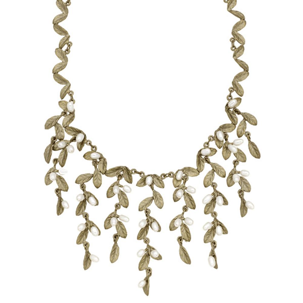 Petite Leaf Statement Necklace | Michael Michaud Jewelry | SS9201BZWP