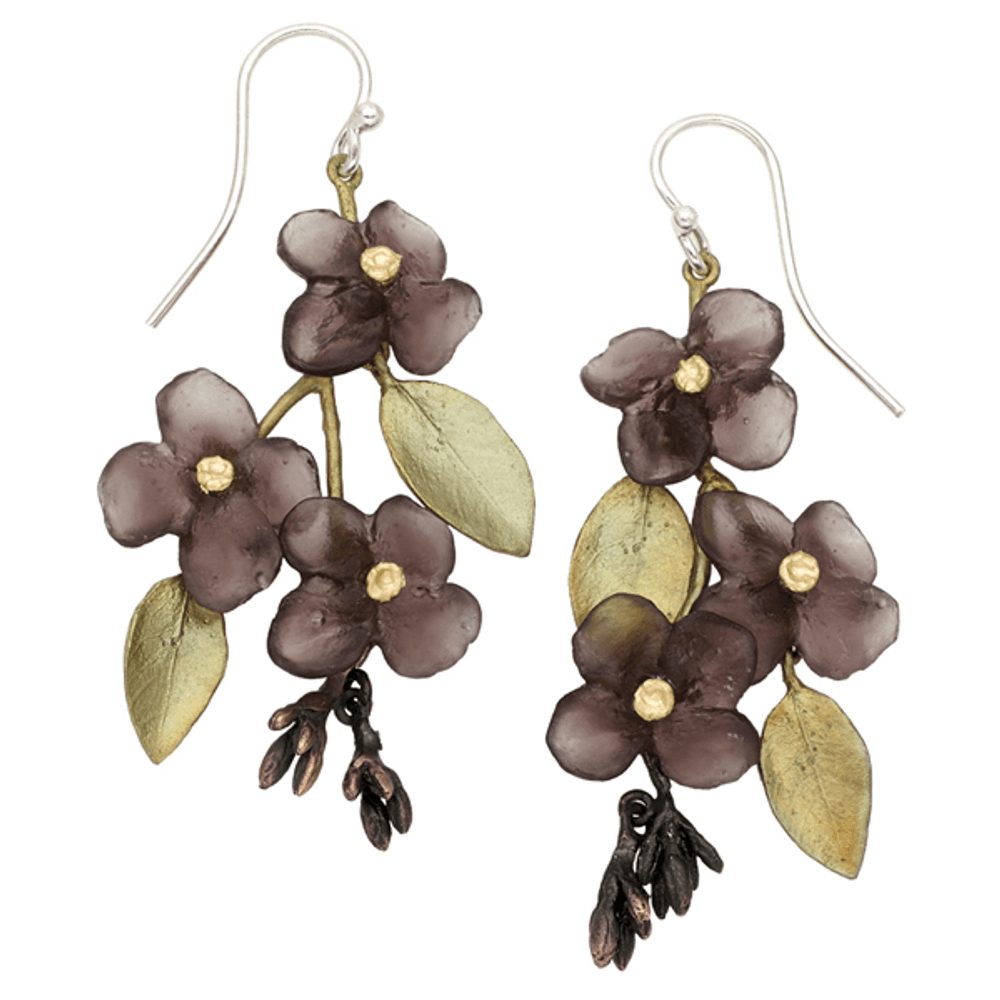 Wood of Life Statement Wire Earrings | Michael Michaud Jewelry | SS3299BZ