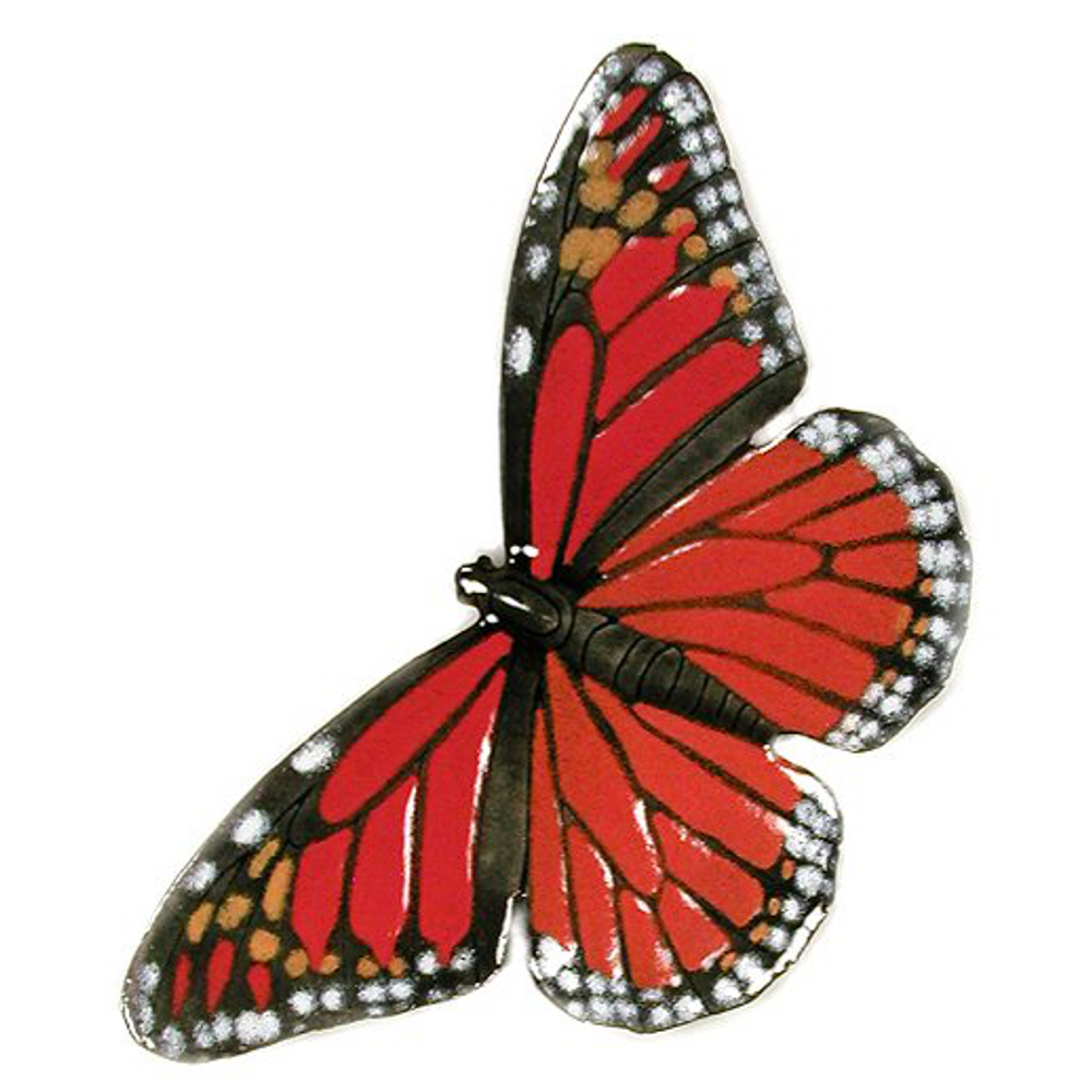 Bovano Monarch Open Wing Butterfly Enameled Copper Wall Art | B3