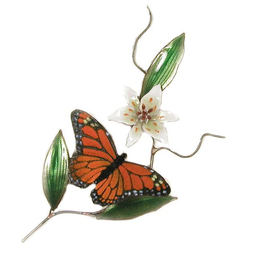 Bovano Monarch Butterfly Enameled Copper Wall Art | B80