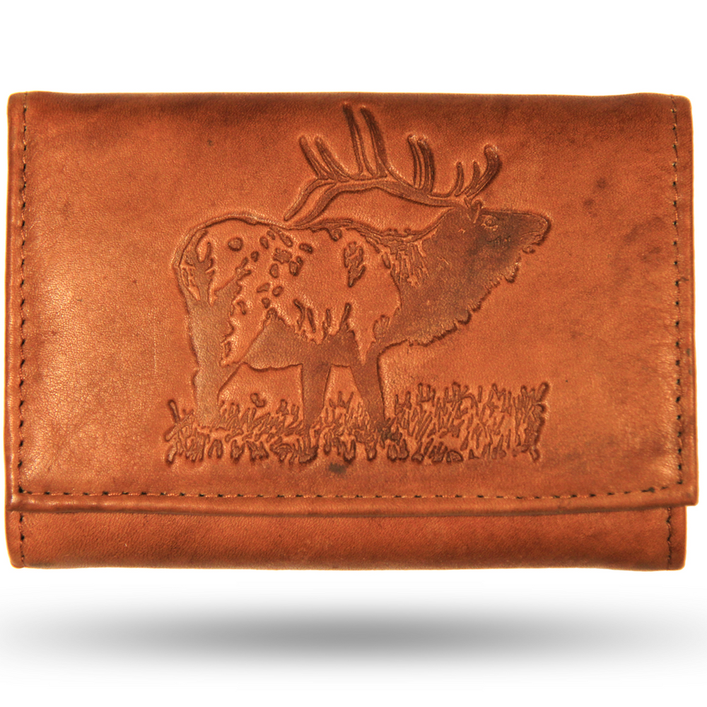 Elk Men's Leather Trifold Wallet