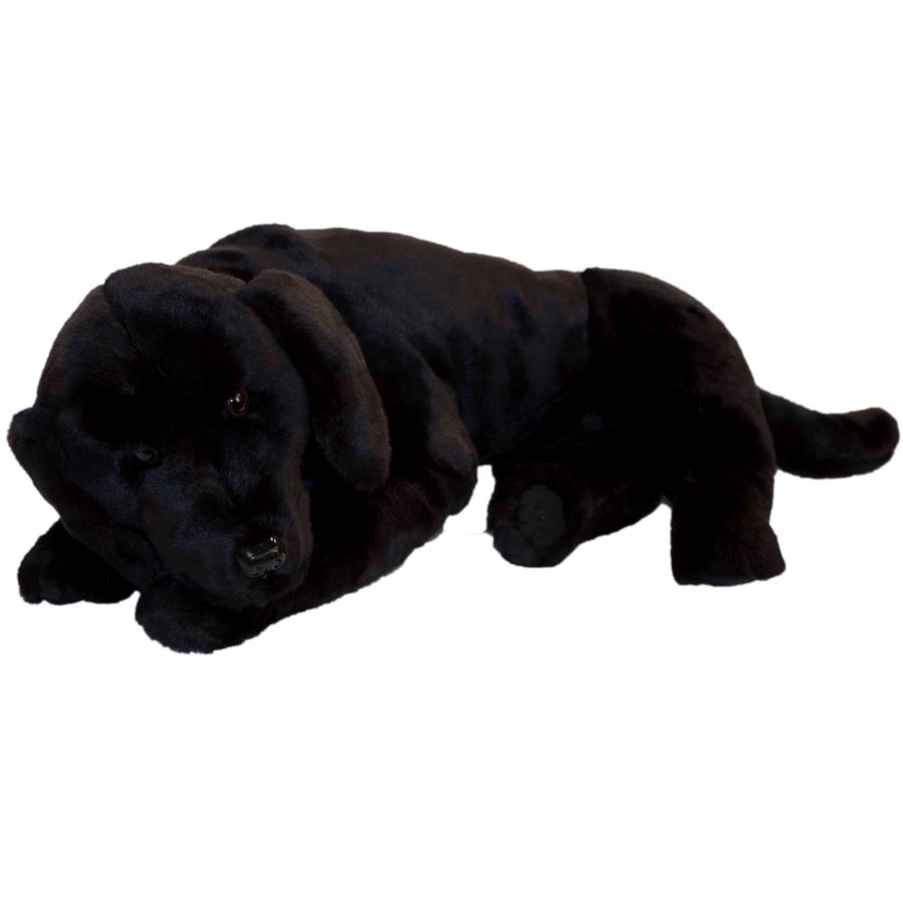 Black Lab Plush Dog