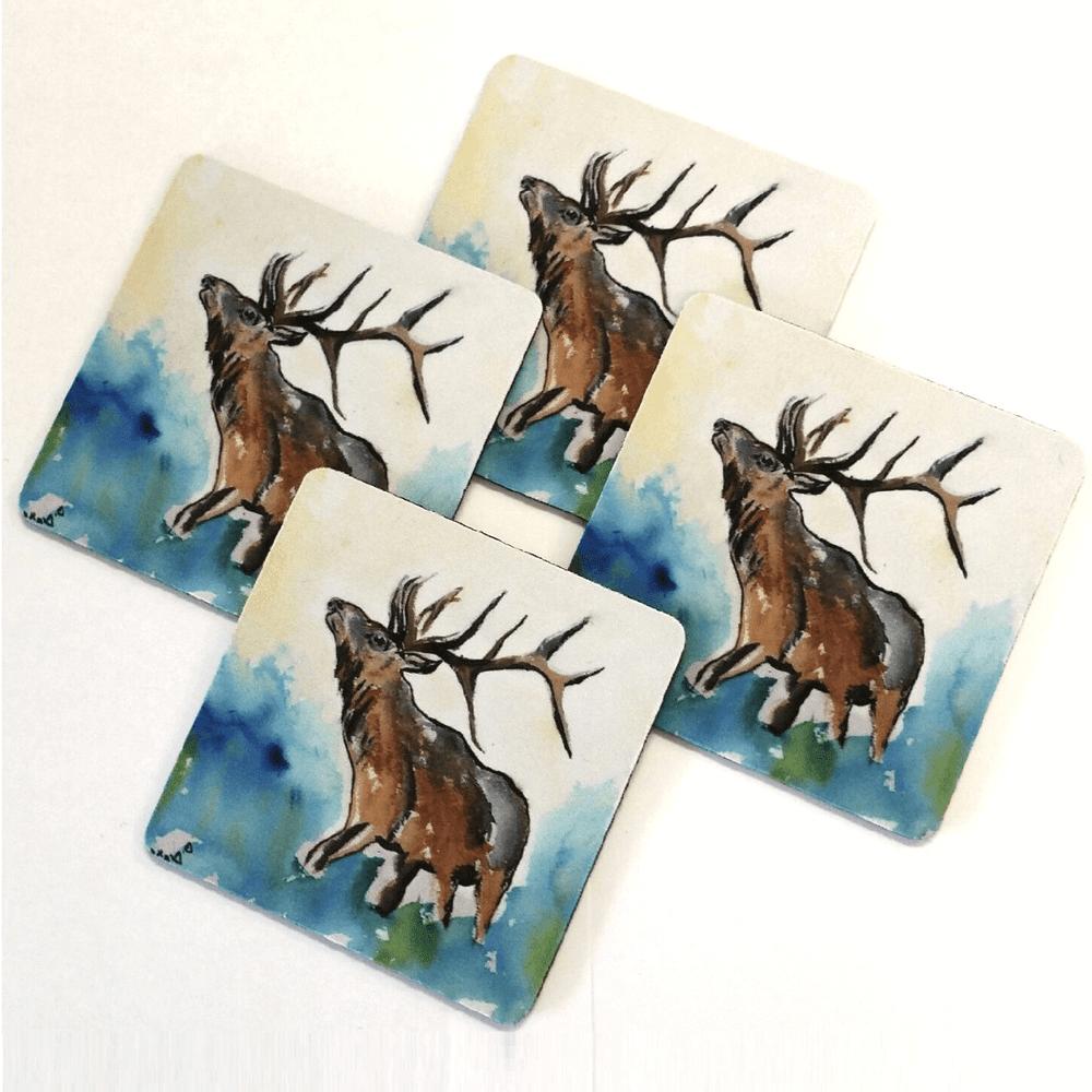 Elk Coasters Set of 4 | Betsy Drake