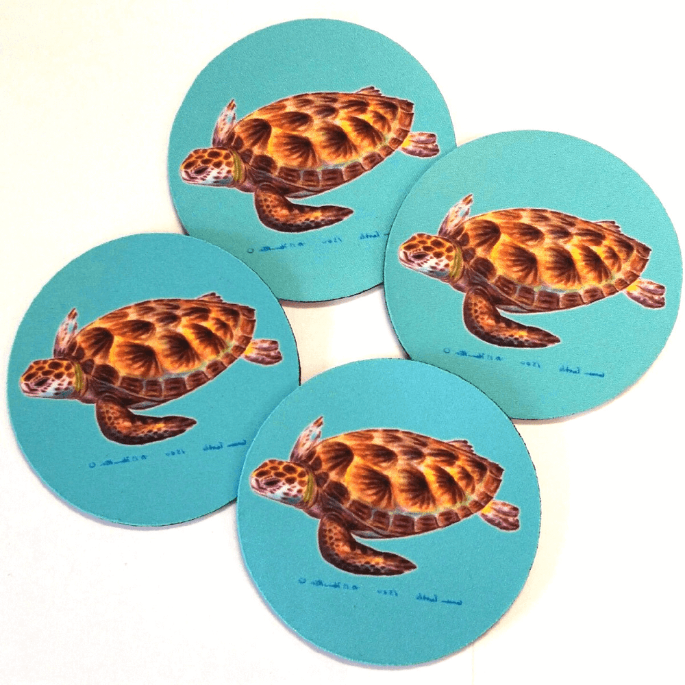 Sea Turtle Coasters Set of 4 | Betsy Drake