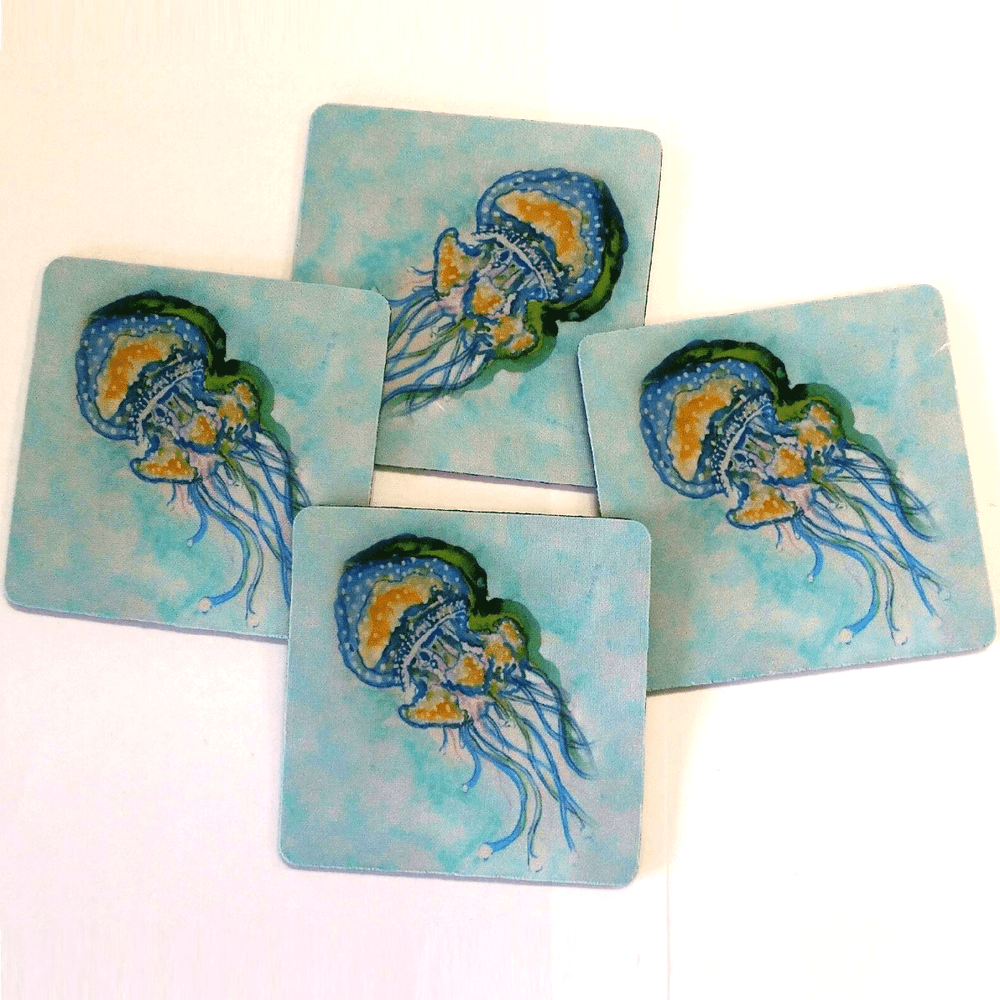 Jellyfish Coasters Set of 4 | Betsy Drake