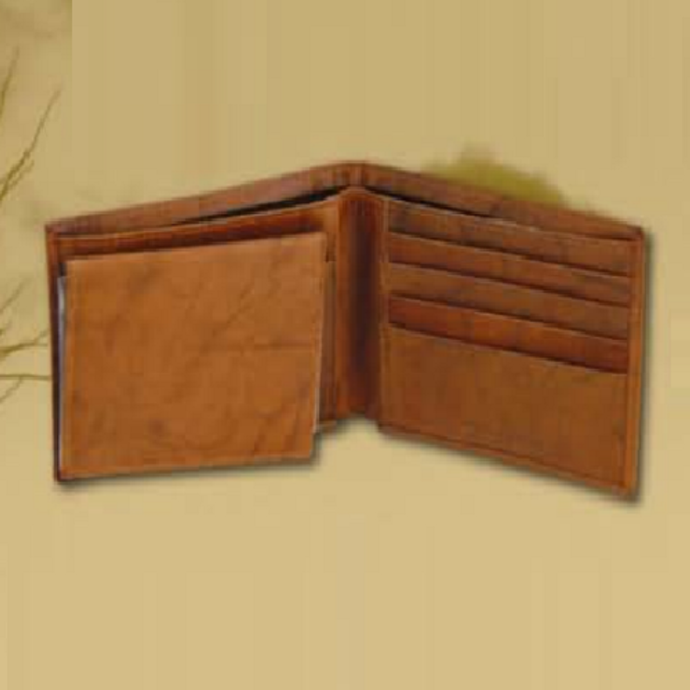 Elk Bugling Leather Bifold Tan Wallet -2