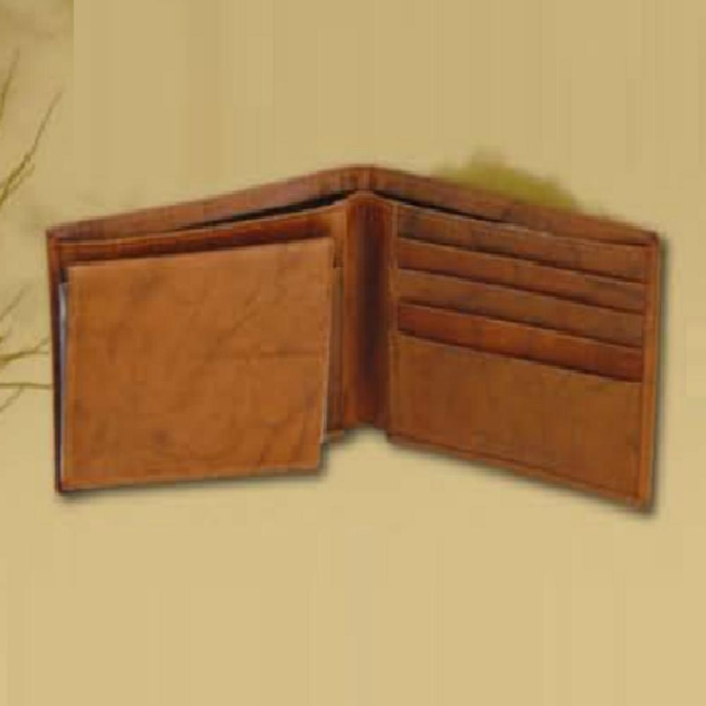 Aspen Buck and Doe Leather Bifold Tan Wallet -2