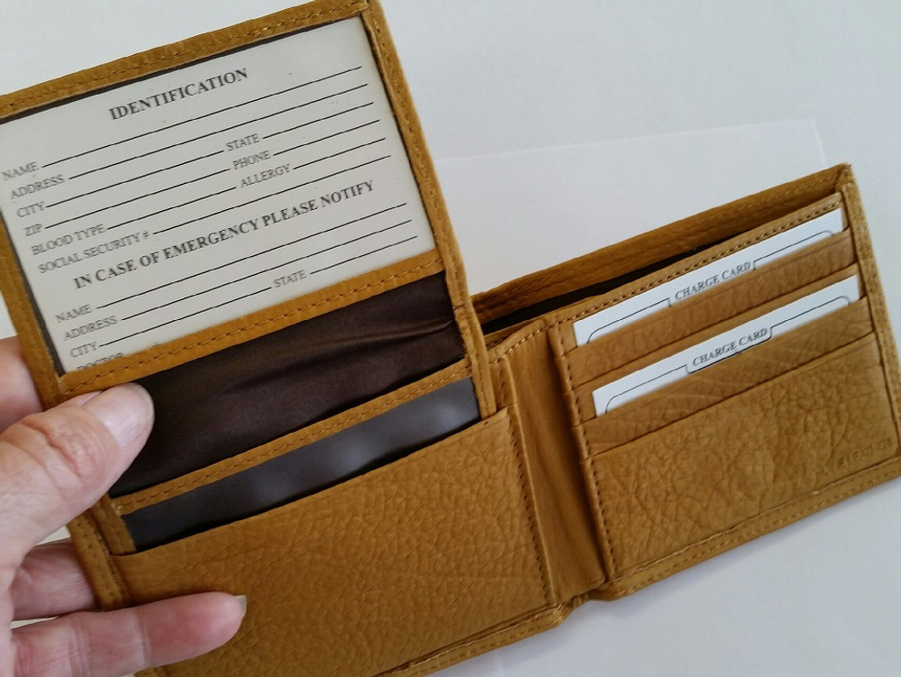 American Bison All Leather Bifold Wallet -2