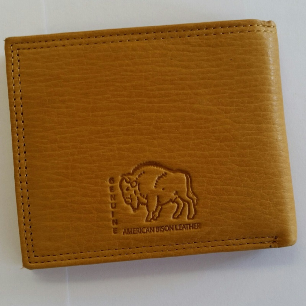 American Bison All Leather Bifold Wallet -3
