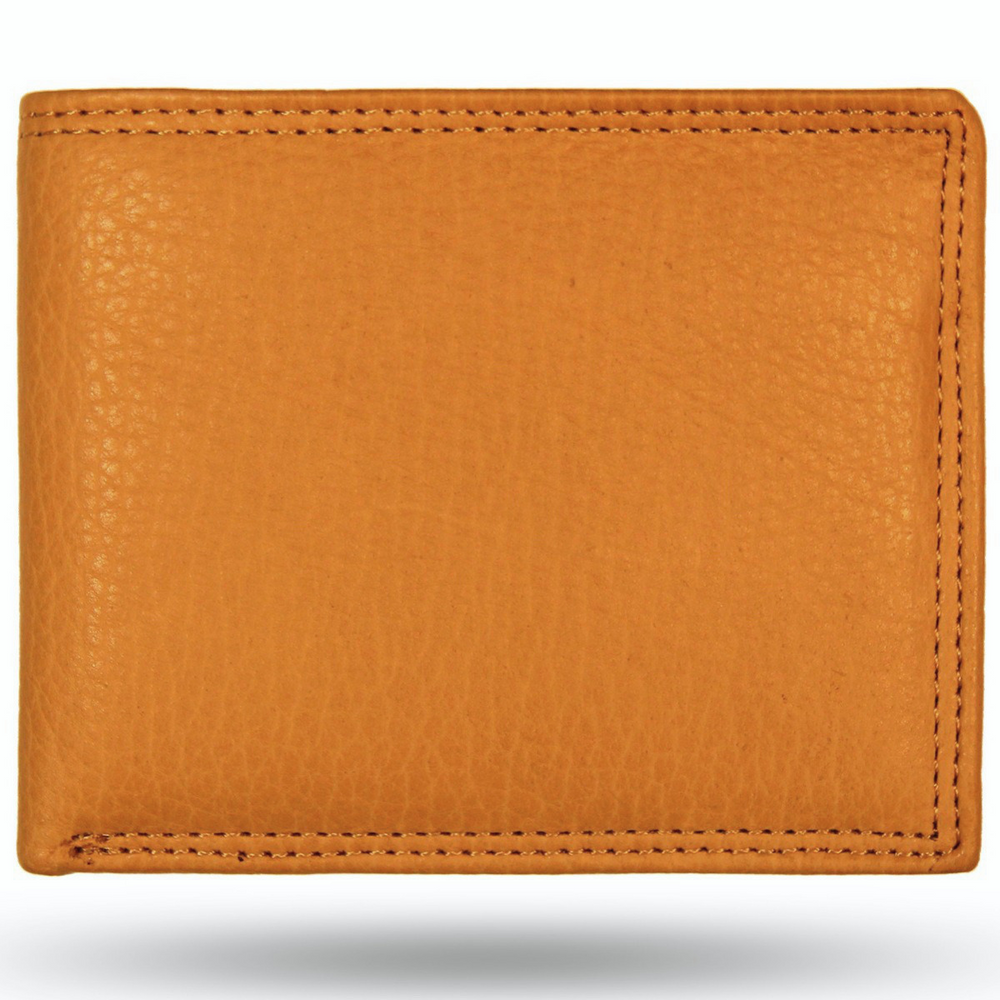 American Bison All Leather Bifold Wallet