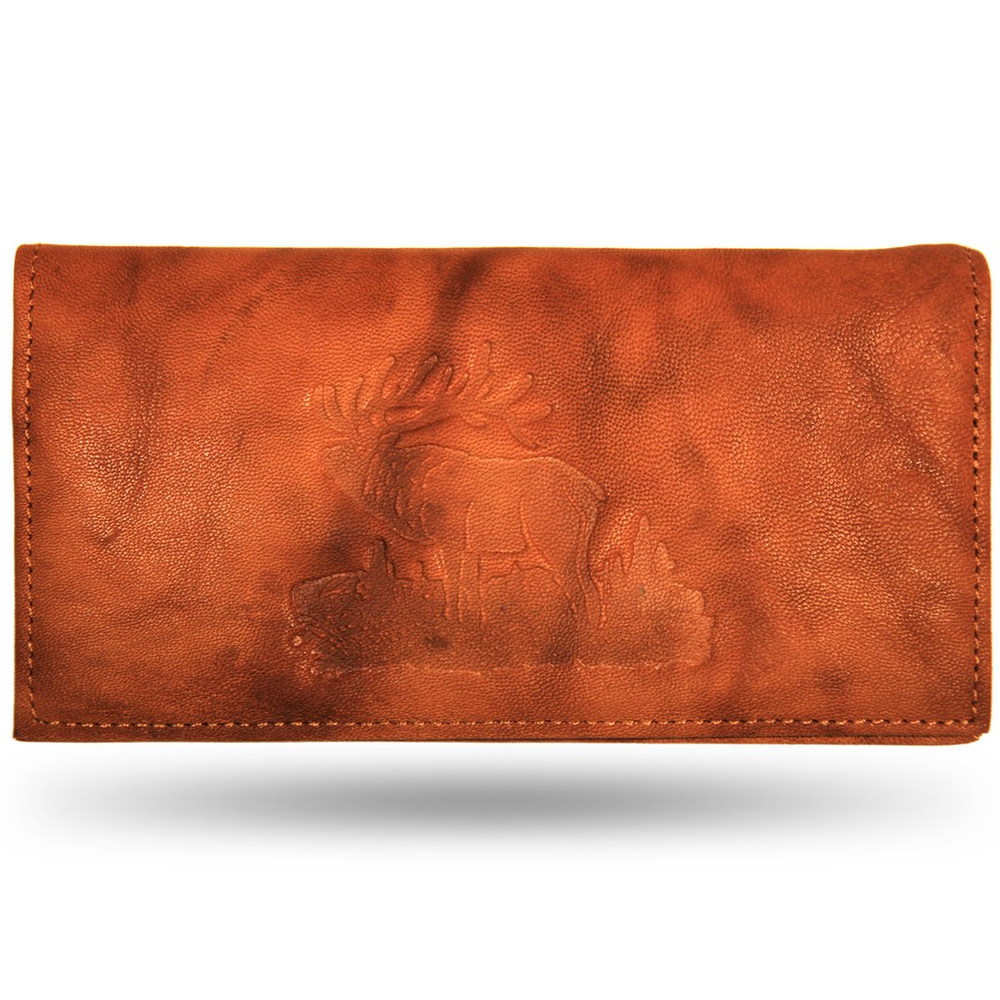 Elk Leather Checkbook Cover
