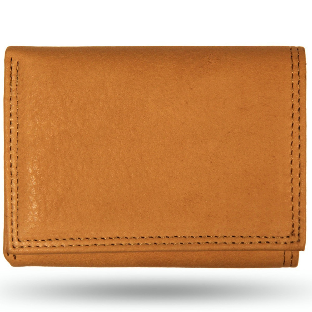 American Bison All Leather Trifold Wallet