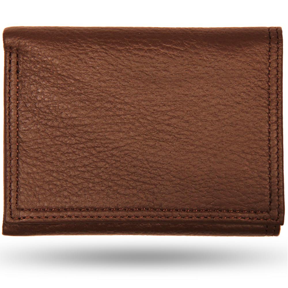 Deerskin All Leather Trifold Wallet