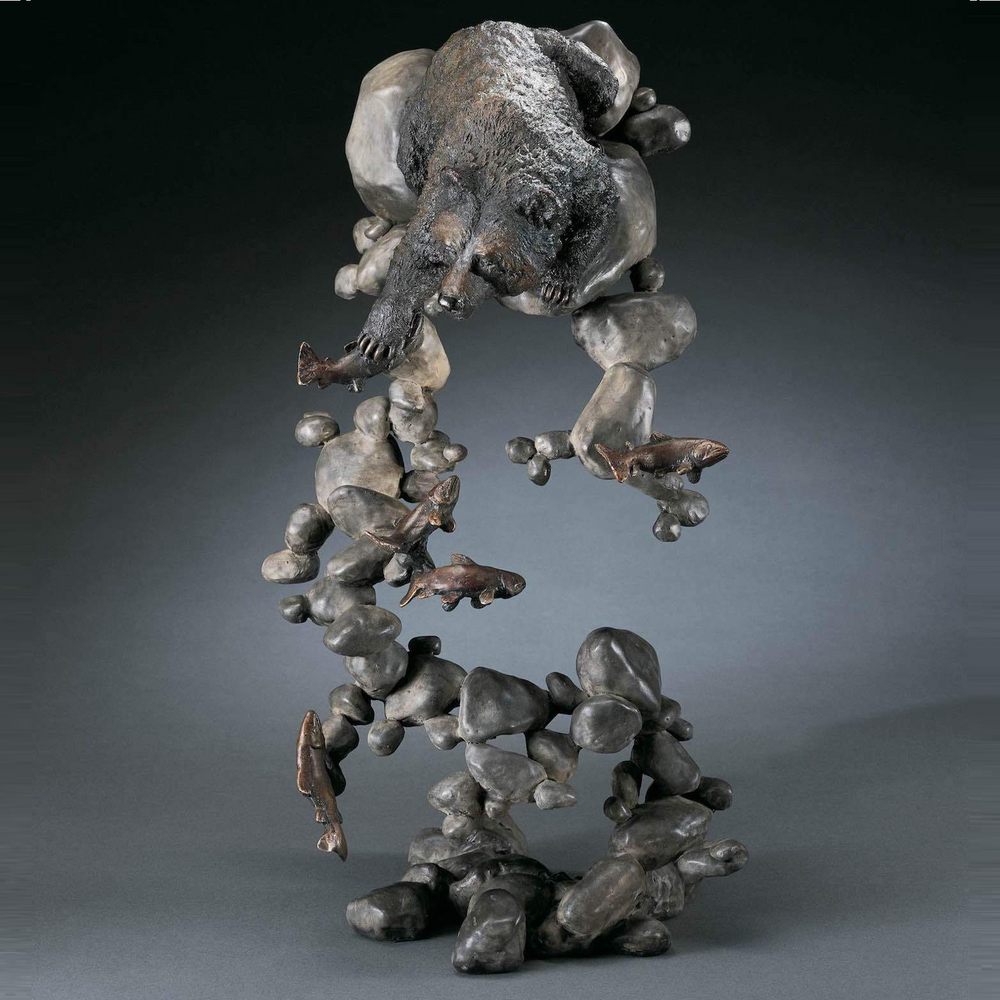 """Bear Bronze Sculpture """"Water's Edge"""""""