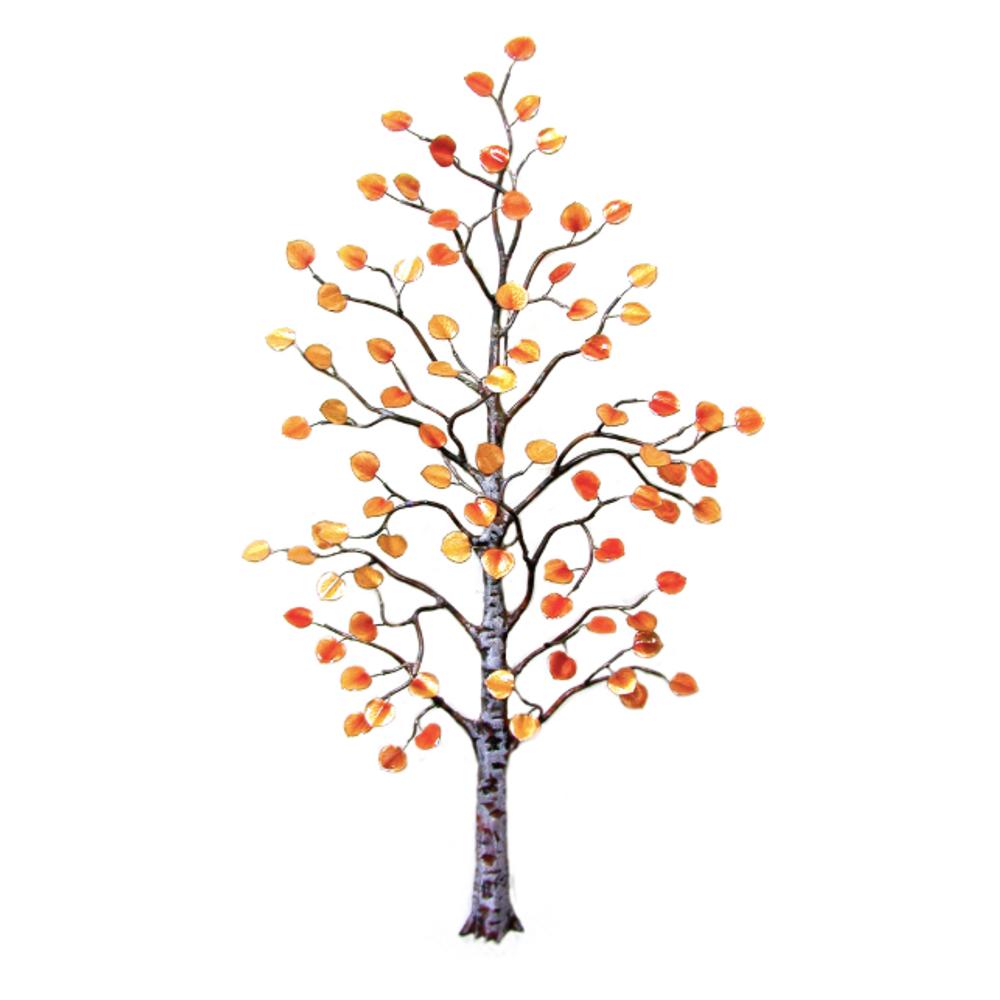 Bovano Large Aspen Tree Autumn Leaves Enameled Copper Wall Art | W96