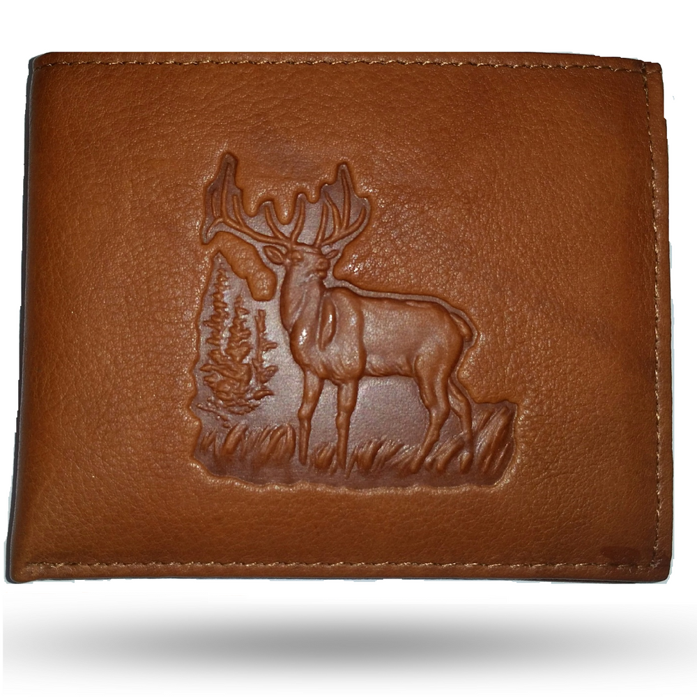 Elk Leather Bifold Tan Wallet