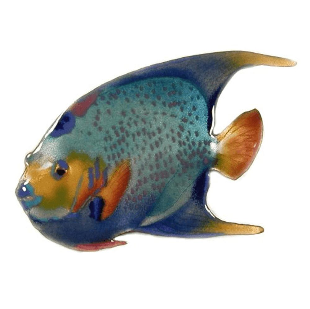 Bovano Queen Angelfish Enameled Copper Wall Art | W1918