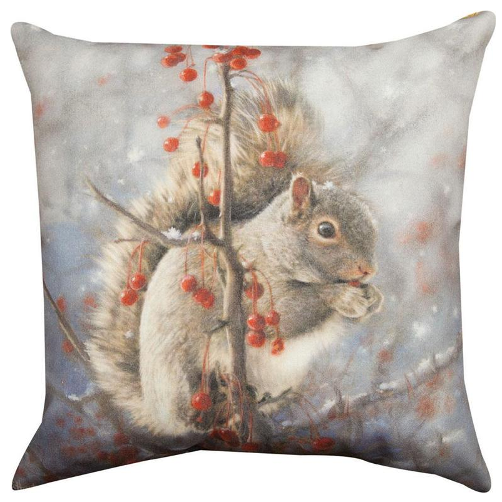 Squirrels Indoor/Outdoor Throw Pillow | SLSQRL