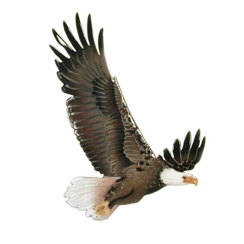 Bovano Bald Eagle in Flight Enameled Copper Wall Art | W839