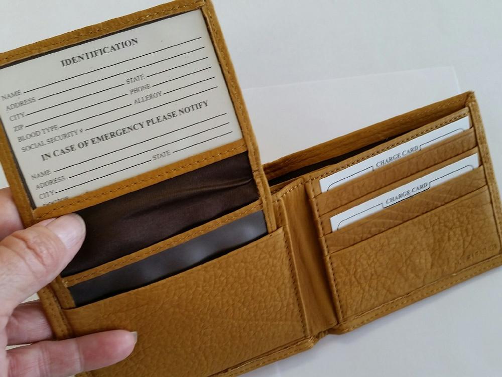 Deer Head All Leather Bifold Wallet -2
