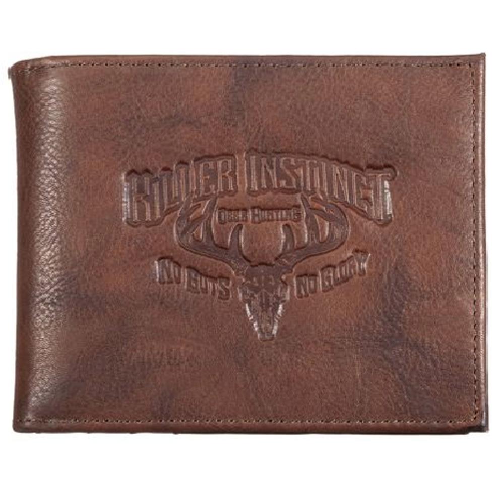 "Deer Skull Leather Bifold Wallet ""Killer Instinct"""
