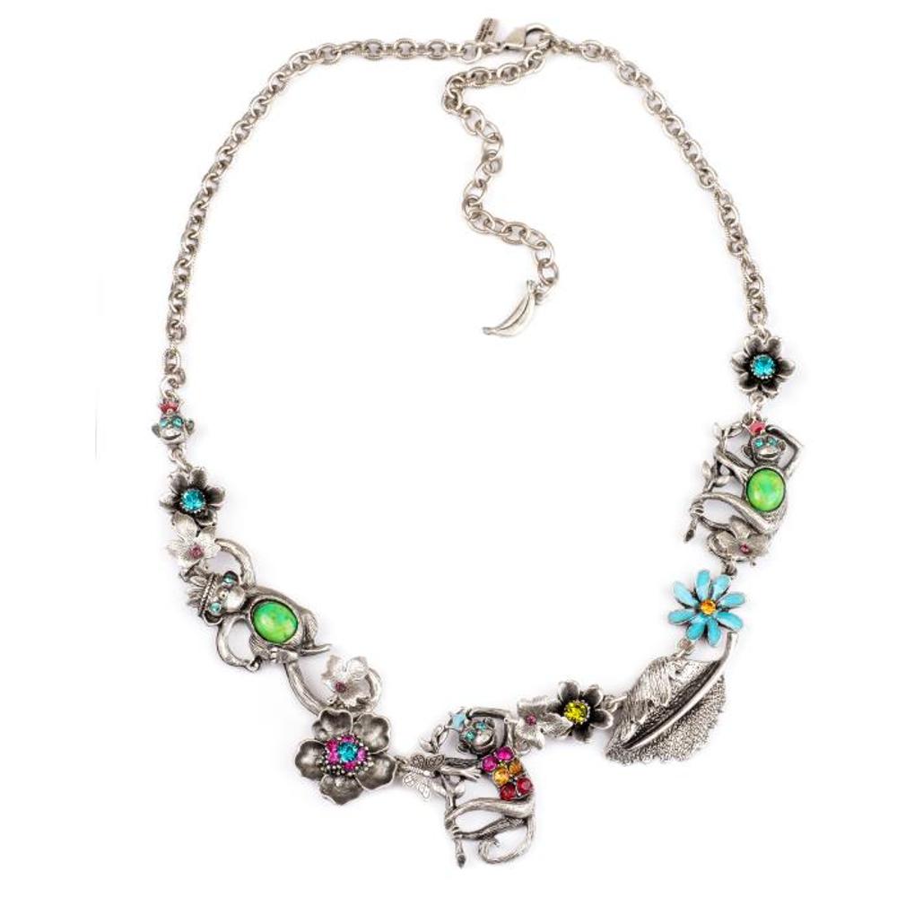 Monkey Statement Necklace |Nature Jewelry | NK-9700-BM