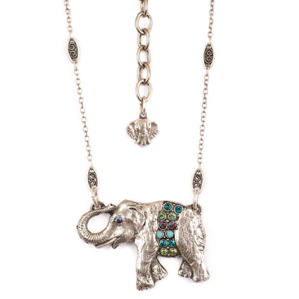 Elephant Pendant Necklace |Nature Jewelry | NK-9403-PKS