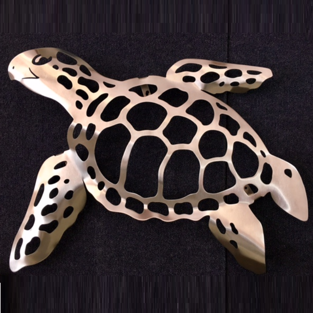 Sea Turtle Stainless Steel Wall Art | R Mended Metals | 10013 -2