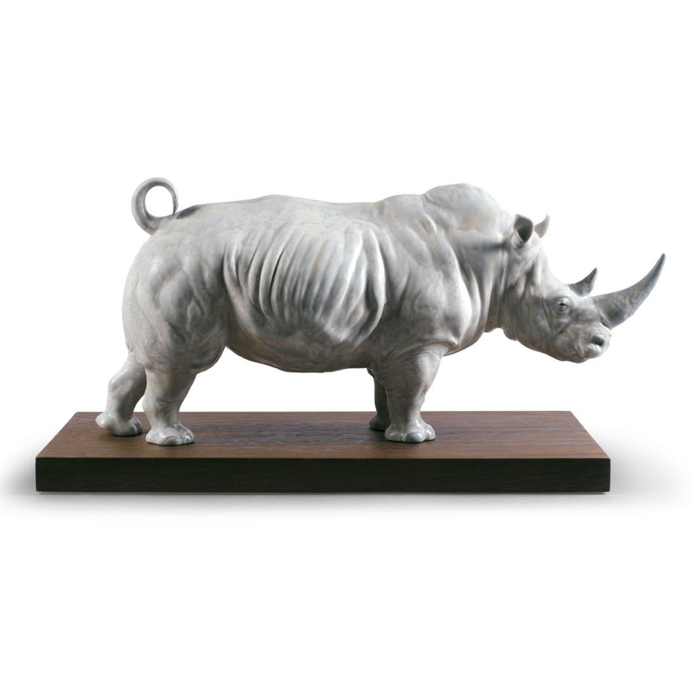 White Rhino Porcelain Figurine   Lladro   01009285