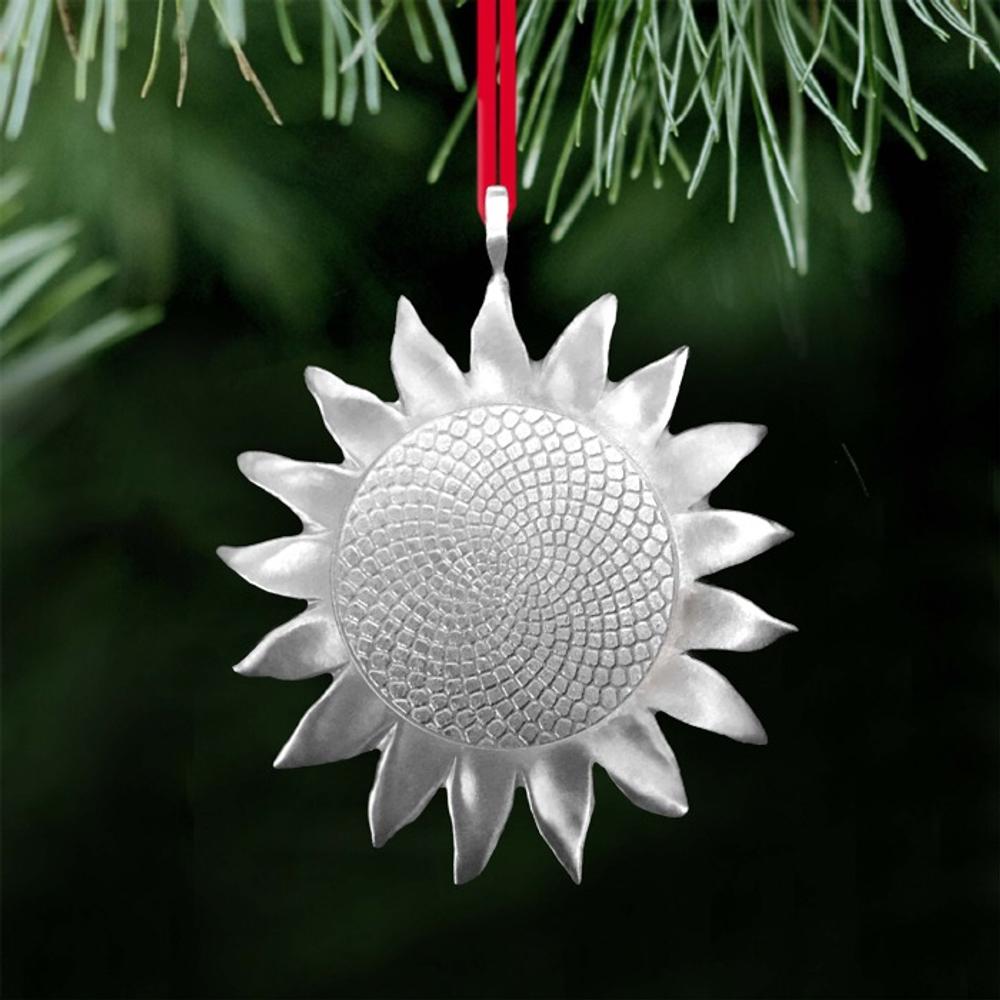 Sunflower Pewter Ornament | Ken Kantro | Lovell Designs