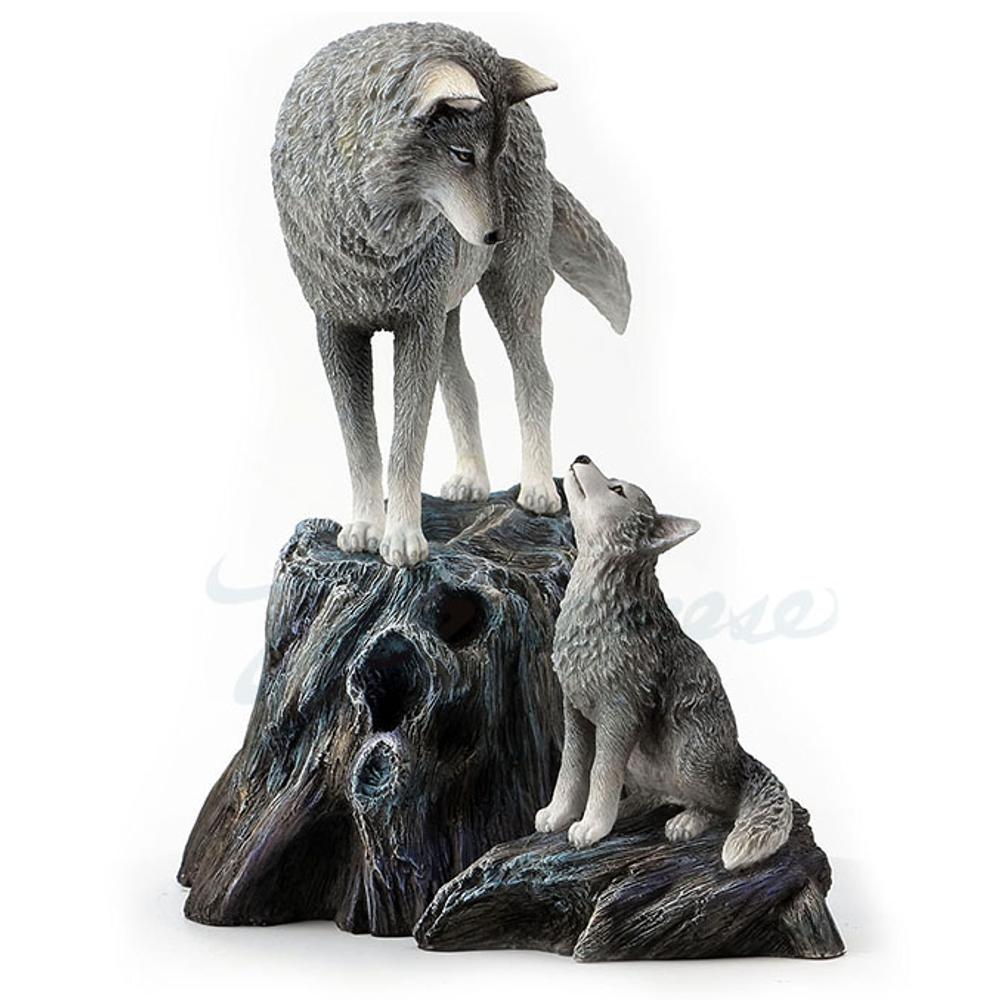 Wolf Sculpture | Guidance | Unicorn Studios | WU77369AA