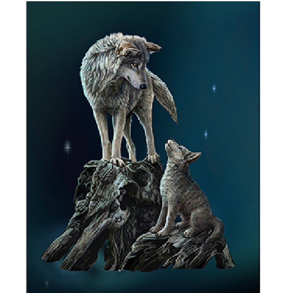 Wolf Sculpture | Guidance | Unicorn Studios | WU77369AA -2