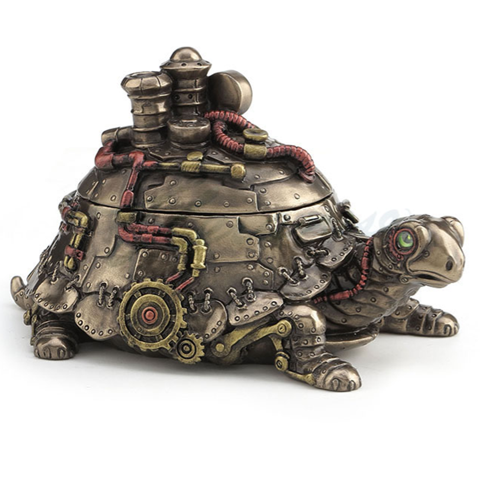 Tortoise Steampunk Trinket Box | Unicorn Studio | WU77389A4
