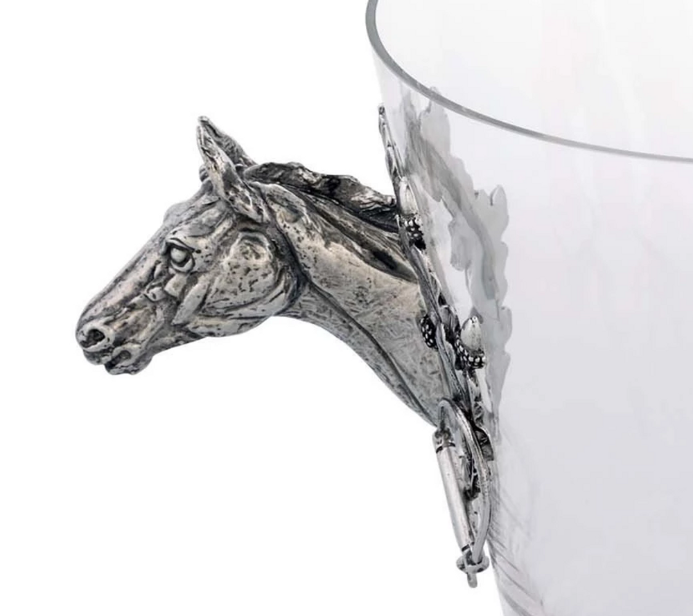Horse Glass Ice Bucket | Vagabond House | H126HL