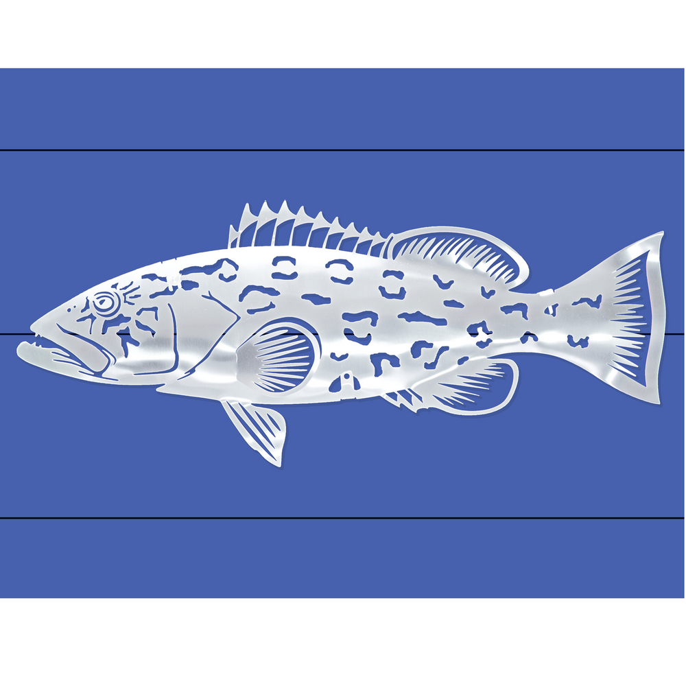 Grouper Stainless Steel Wall Art | R Mended Metals | 100405