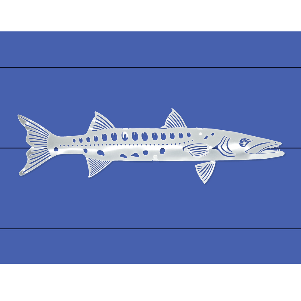 Barracuda Stainless Steel Wall Art   R Mended Metals   100505