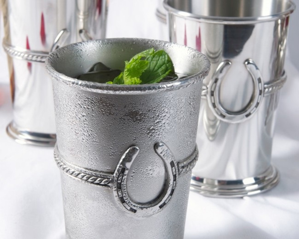 Pewter Equestrian Julep Cup   Vagabond House   H136S -2