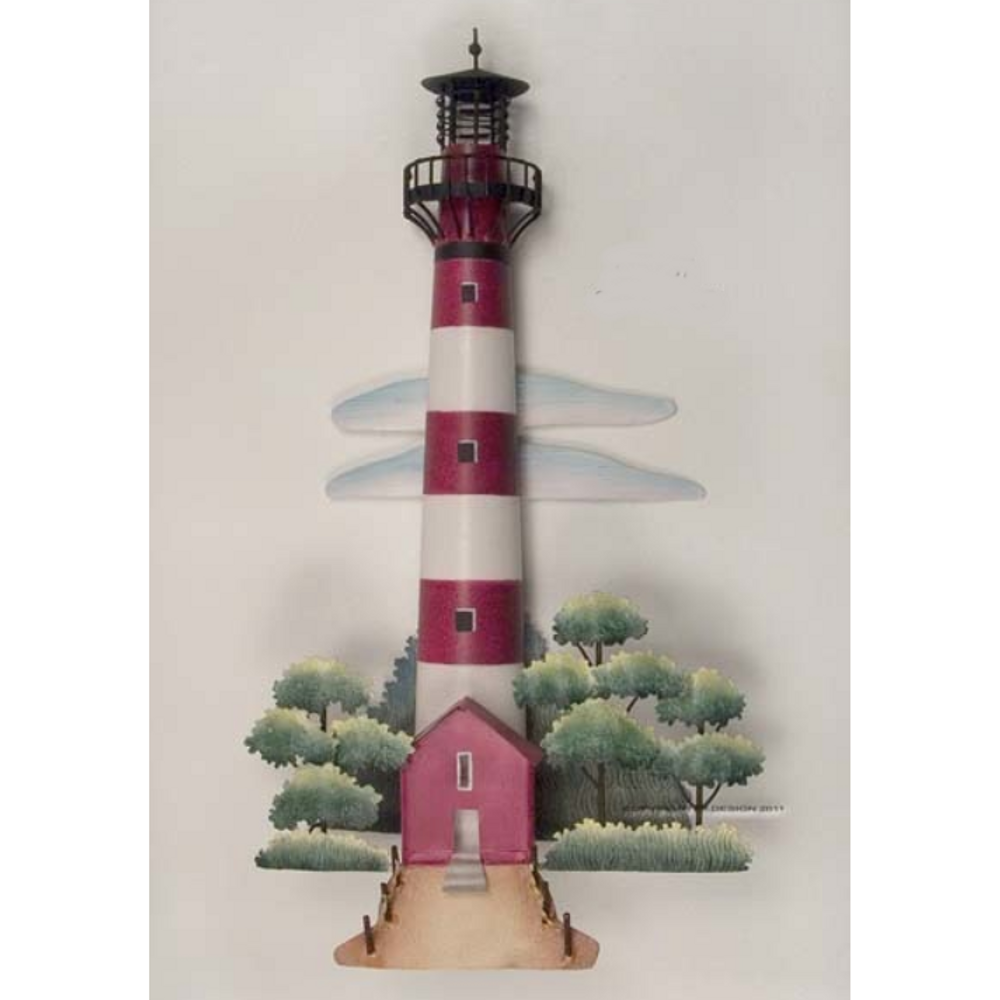 Assateague Lighthouse Replica Metal Wall Sculpture | TI Design | CA767