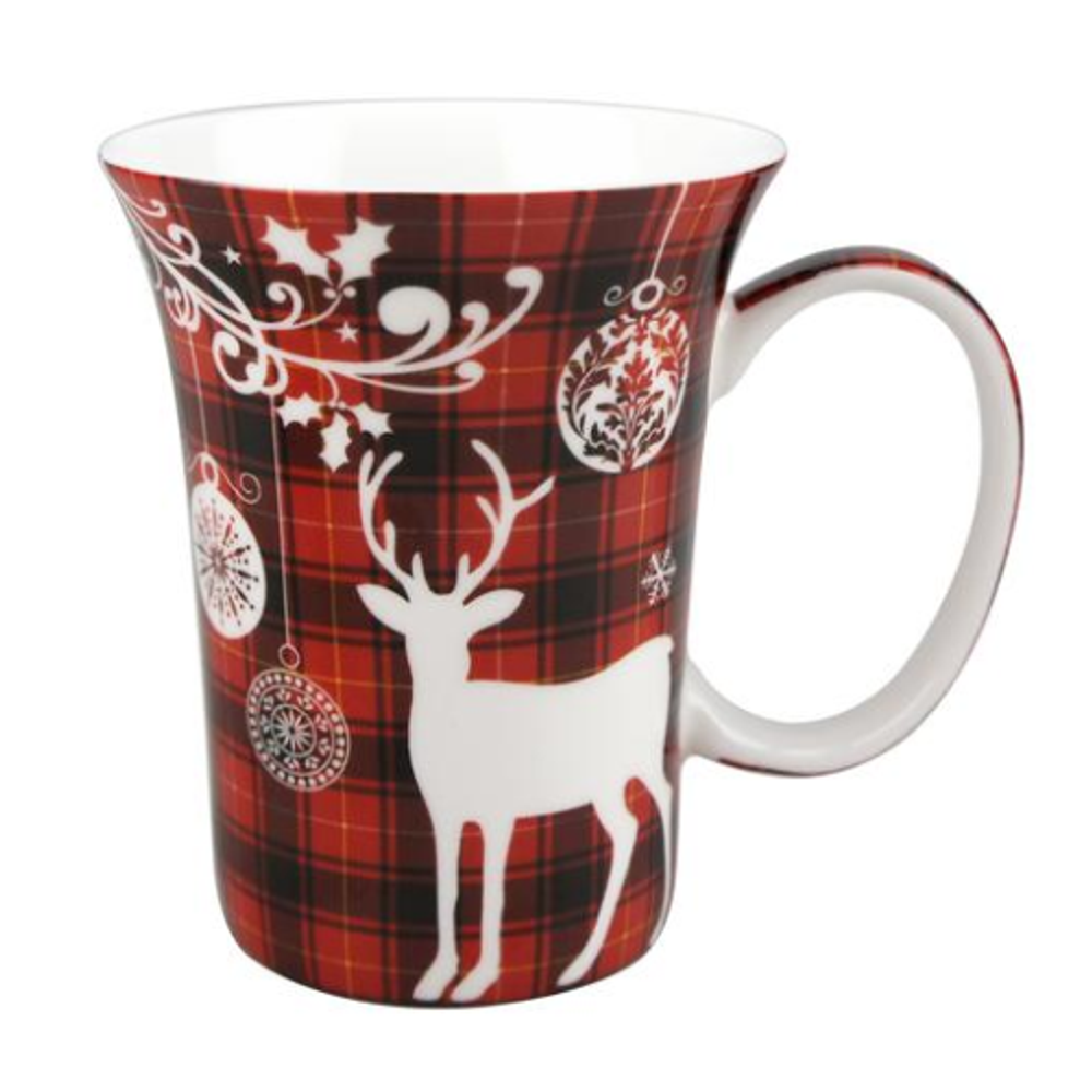 Holiday Reindeer Bone China Mug Set of 2 | McIntosh Trading Reindeer Mug | MTMMC020179 -3