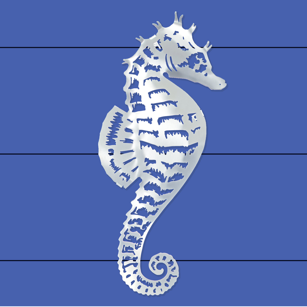 Sea Horse Stainless Steel Wall Art | R Mended Metals | 100203