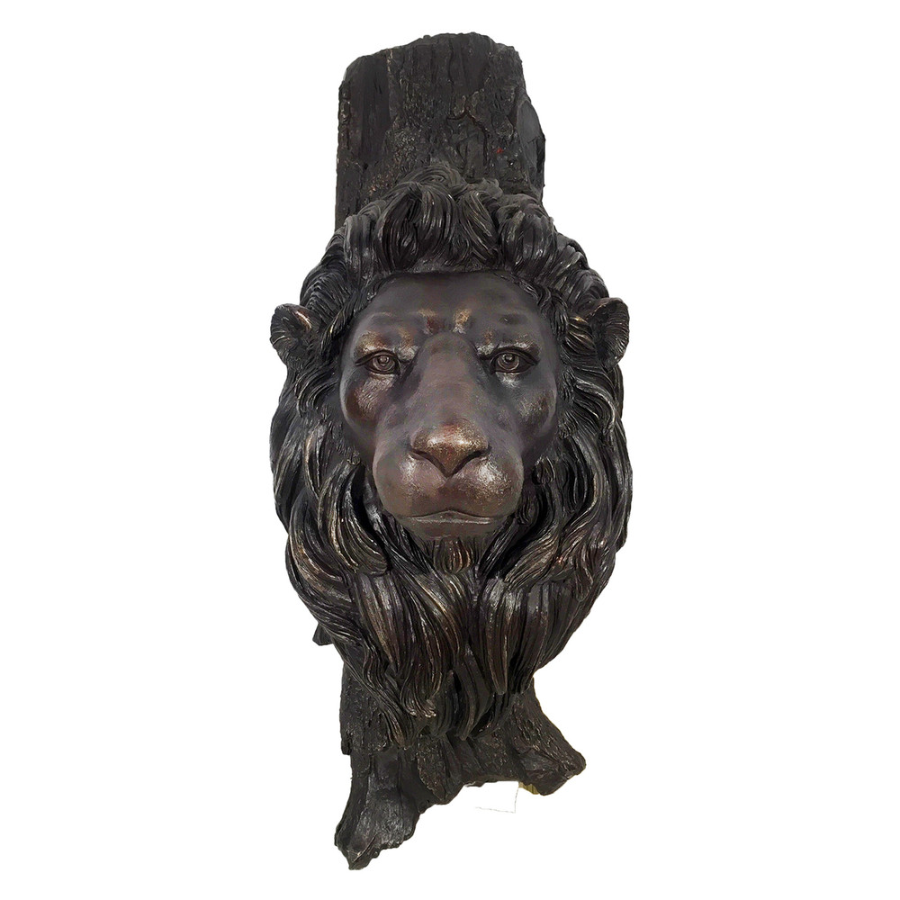 Lion Face Bronze Sculpture | Metropolitan Galleries | SRB10071