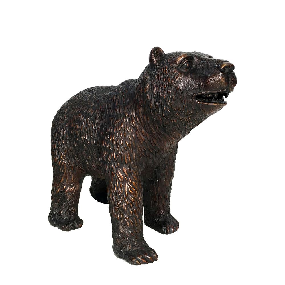 Standing Bear Small Bronze Outdoor Statue | Metropolitan Galleries | SRB25129