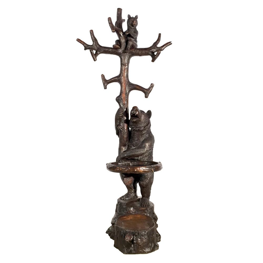 Bear with Cub in Tree Bronze Outdoor Statue | Metropolitan Galleries | SRB25236