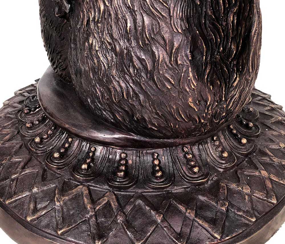 Bronze Deer Antler Planter Urn | Metropolitan Galleries | SRB10105
