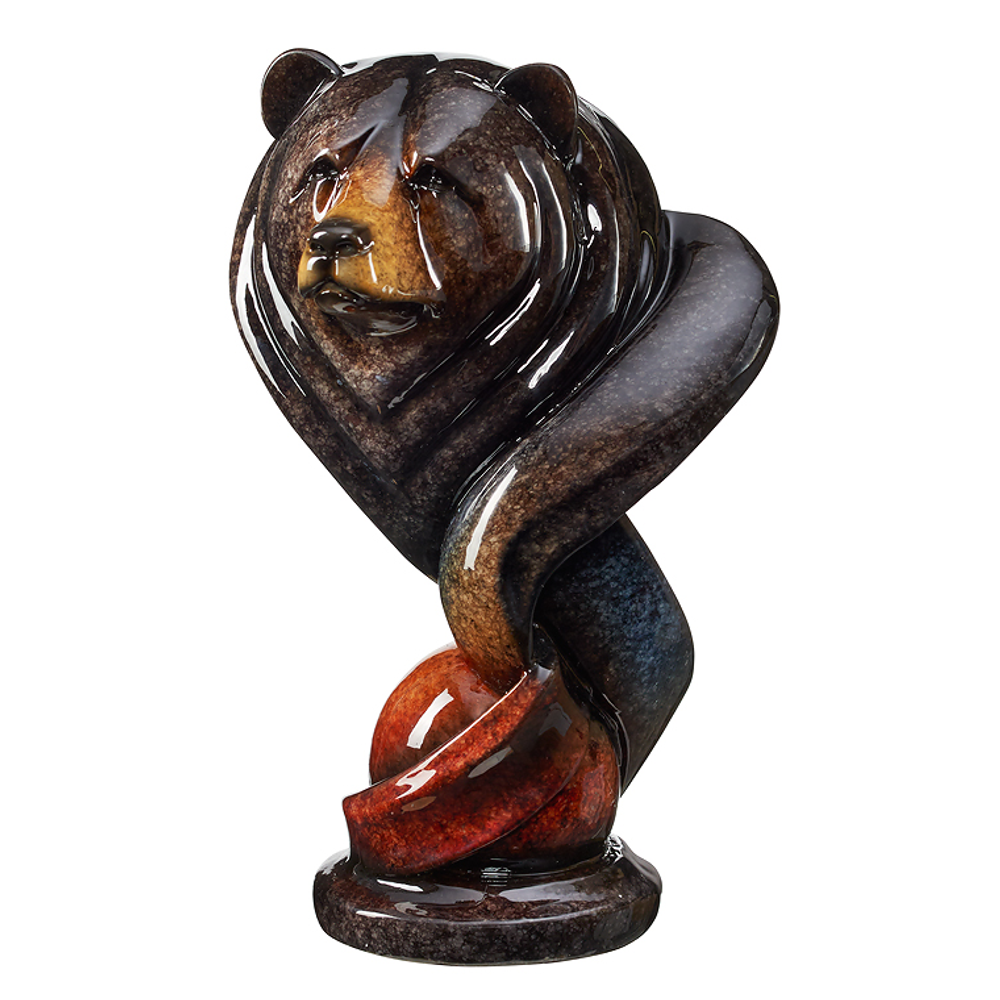 "Bear Sculpture Imago Onyx ""Loverboy"" | Mill Creek Studios | 6567425475"
