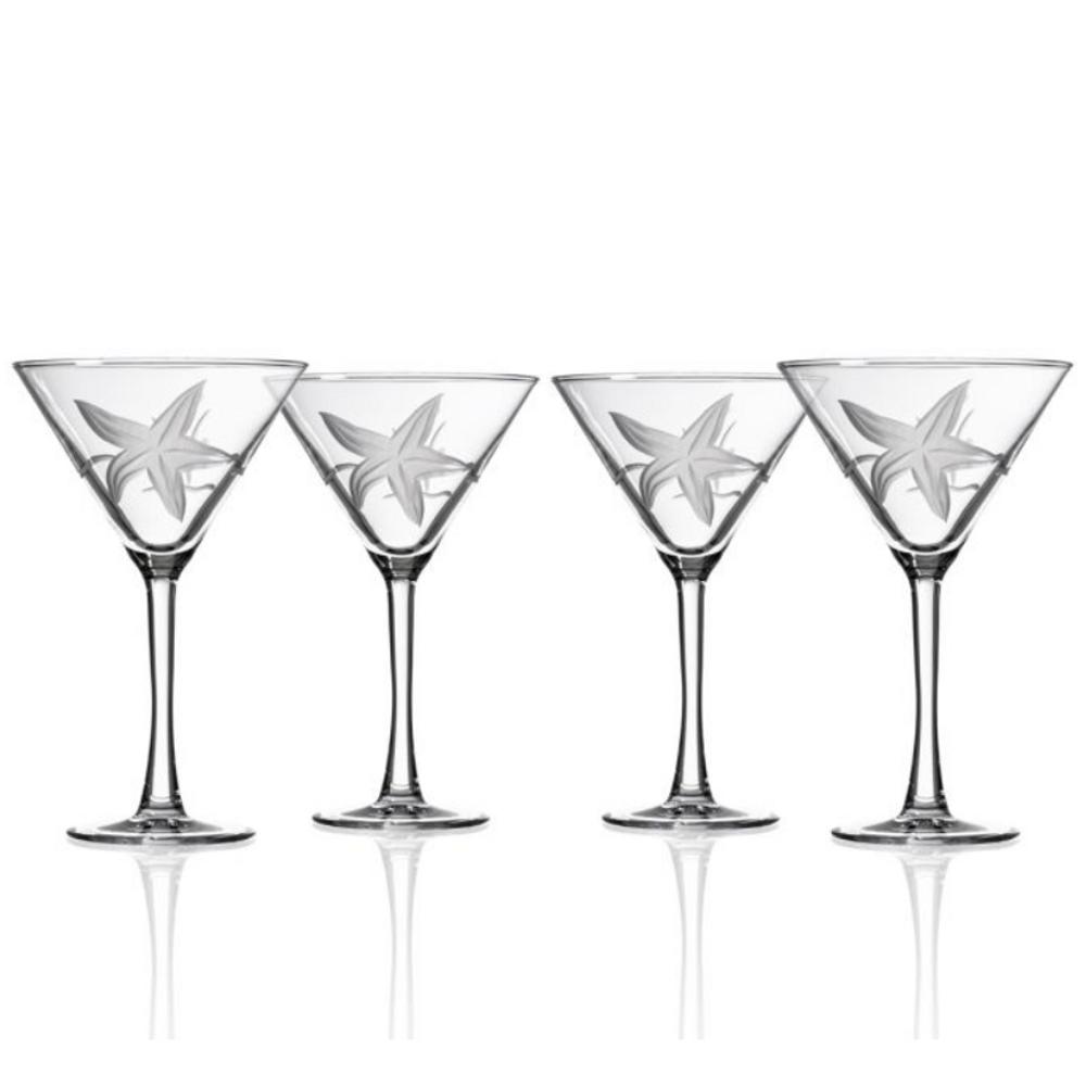 Starfish Martini Glass Set of 4 | Rolf Glass | 400136