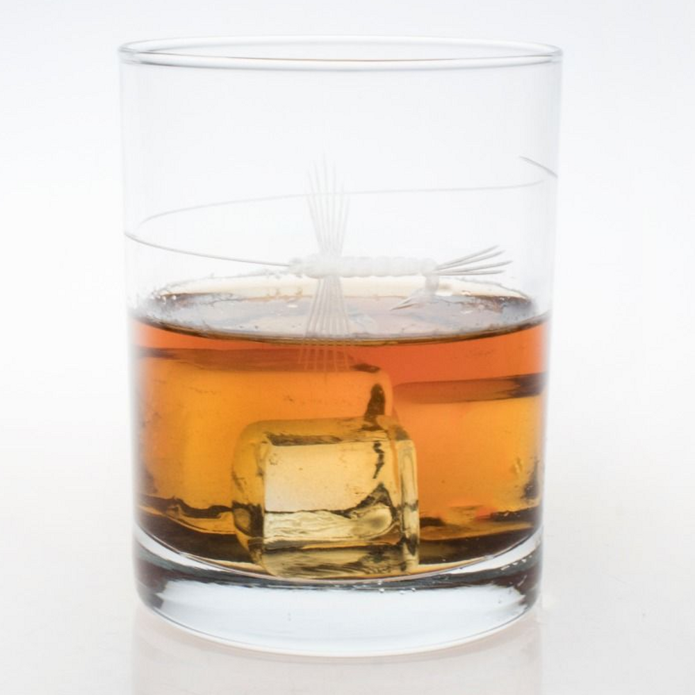 Fly Fishing Double Old Fashioned Glass Set of 4 | Rolf Glass | 410005