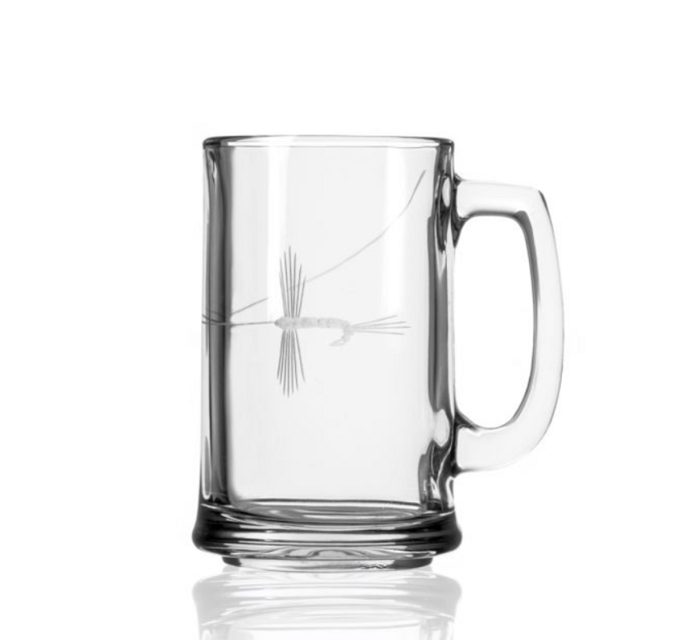 Fly Fishing Engraved Beer Mug Set of 4 | Rolf Glass | 410081